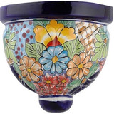 clay talavera sconce orange yellow
