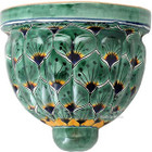 country style talavera sconce green yellow