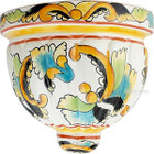 porcelain talavera sconce black yellow