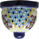 decorative talavera sconce red blue