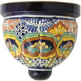 colonial talavera sconce yellow brown