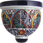 hand crafted talavera sconce red blue