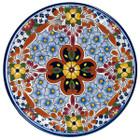 handmade talavera plate yellow brown