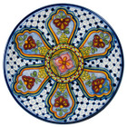 handcrafted talavera plate green blue