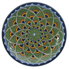 artisan made talavera plate green yellow