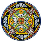 decorative talavera plate black brown