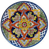 porcelain talavera plate green yellow