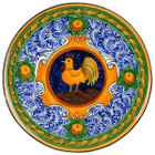 rustic talavera plate yellow green