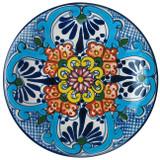clay talavera plate blue green