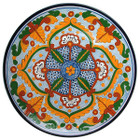 mexican talavera plate green yellow