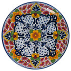 colonial talavera plate red cobalt