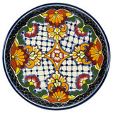 handmade talavera plate red black