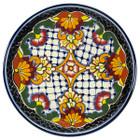 handmade talavera plate red black