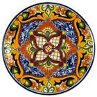 handcrafted talavera plate orange red