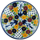 hand painted talavera plate yellow brown
