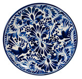 hand crafted talavera plate dark blue