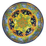 porcelain talavera plate green cobalt