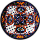 handcrafted talavera plate white yellow