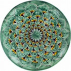 hand crafted talavera plate green yellow