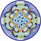 decorative talavera plate blue green