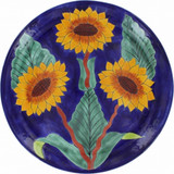 rustic talavera plate green yellow