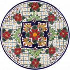 handmade talavera plate red green