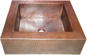apron copper bar sink handmade