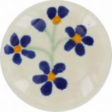 cobalt white ceramic pull knob