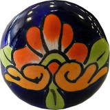 orange cobalt ceramic pull knob
