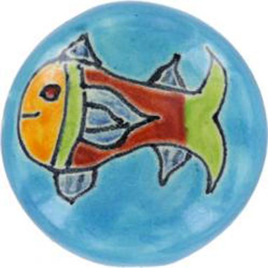 green blue ceramic pull knob