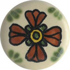 terra cotta white ceramic pull knob