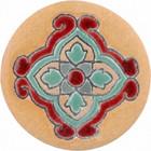 red amber ceramic pull knob