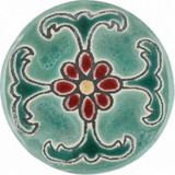 brown green ceramic pull knob