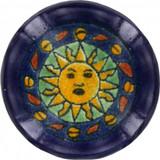 yellow dark cobalt ceramic pull knob