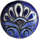 white navey blue ceramic pull knob