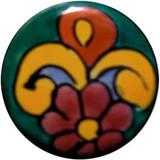 terra cotta green ceramic pull knob