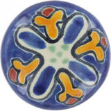 yellow cobalt ceramic pull knob