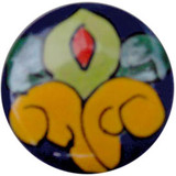 yellow cobalt ceramic pull knob