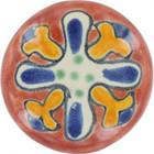 yellow terra cotta ceramic pull knob