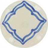 blue white ceramic pull knob
