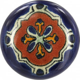 terra cotta cobalt ceramic pull knob