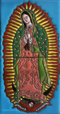 Our Lady of Guadalupe patio relief tile mural