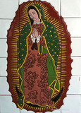 Guadalupe virgin shower relief tile mural