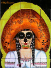 day of the dead bathroom wall tile mural