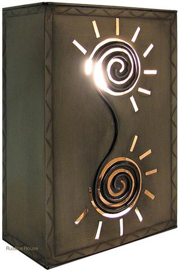 country tin wall lamp