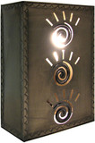 colonial tin wall lamp