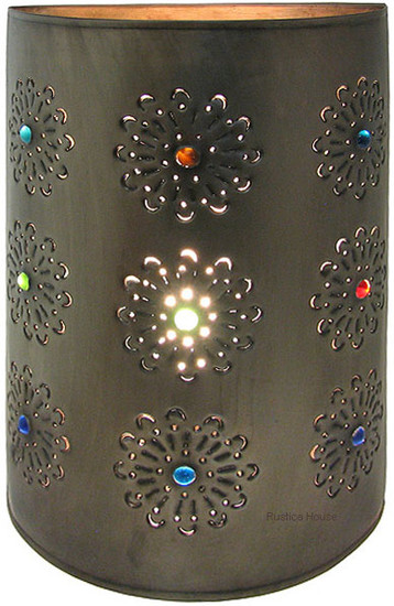 Mexican tin wall lamp