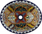 handcrafted rustic yellow talavera sink