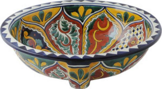 decorative talavera sink