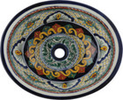 hand made colonial green talavera sink